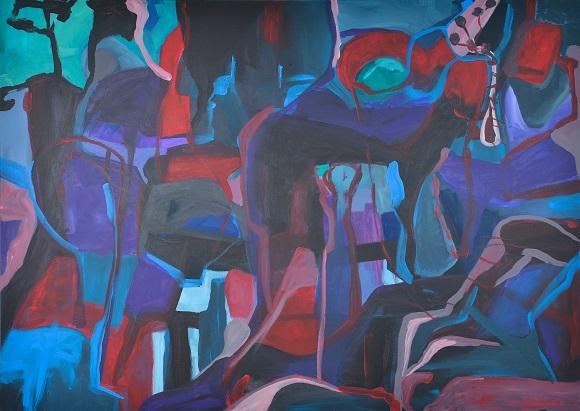 Sacrifice,139x100x3,3cm,acrylics on canvas,2016