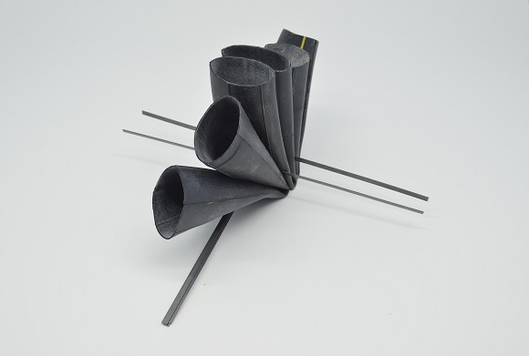 Absence,brooch,2016,rubber,steel